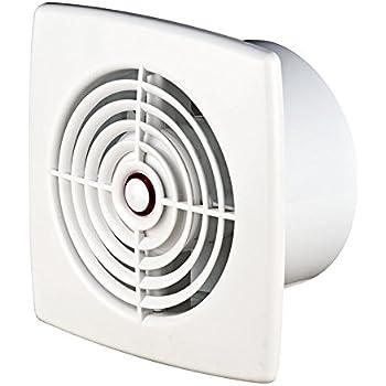 Ventilador extractor de baño 100 mm con rodamiento de bolas para inodoro WC, ventilador de pared y techo WR100: Amazon.es: Bricolaje y herramientas