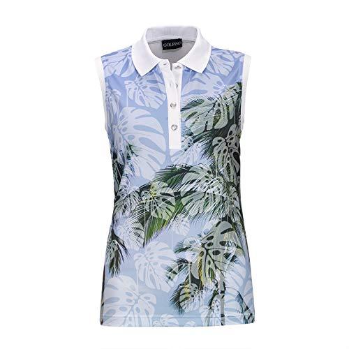 GOLFINO 4335224 100 34 Camisa de Polo, Color Blanco, 36 (Pack de 2) para Mujer