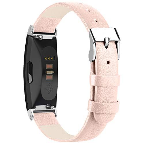 Amzpas – Correa Fitbit Inspire HR, de acero inoxidable, malla de metal, compatible con Fitbit Inspire/Inspire HR/Ace 2, pequeña y grande, para hombre y mujer, color 05 Rosa