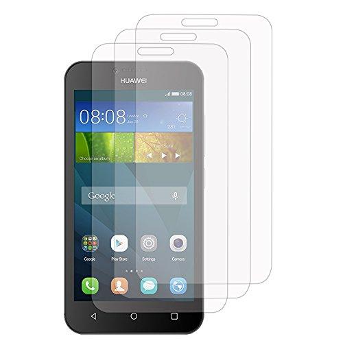 3x Transparente Displayschutzfolie für Huawei Y560 - TRANSPARENT