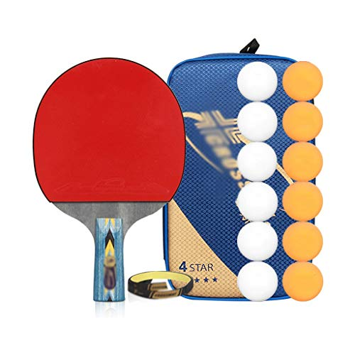 Buy Table Tennis Rackets with Balls Ping Pong Paddle Sets, Table Tennis Bats with Carry Bag, Ping Po...