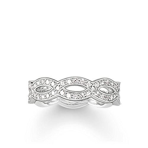 Thomas Sabo Damen-Ring Glam & Soul 925 Sterling Silber Zirkonia weiß Gr. 52 (16.6) TR1973-051-14-52