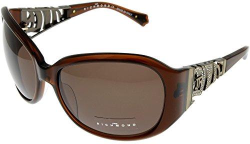 John Richmond Sunglasses Womens JR661 02 Brown with White Crystal Swarovski