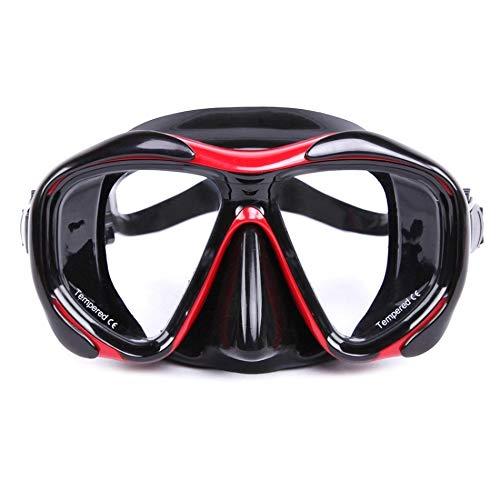 MHSHKS Máscara De Esnórquel Máscaras De Buceo Gafas De Buceo Antivaho Buceo Gafas De Natación De Buceo Máscara De Snorkel con Lente De Vidrio Templado para Natación para Niños (Color : Red)