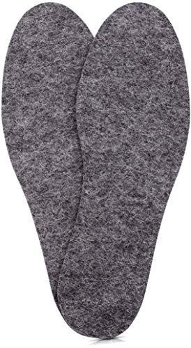 Woolys 1 Paar Premium Wollfilz Einlegesohlen aus 100% natürlicher Merinowolle. Trockene und warme Füße im Winter. Filzsohlen wirken antibakteriell gg. Schweißfüße & Fußgeruch Größe: 44