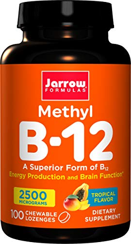 Jarrow Formulas Methyl B-12,Supports Brain Cells and Nerve Tissue, 2500 mcg, 100-Count