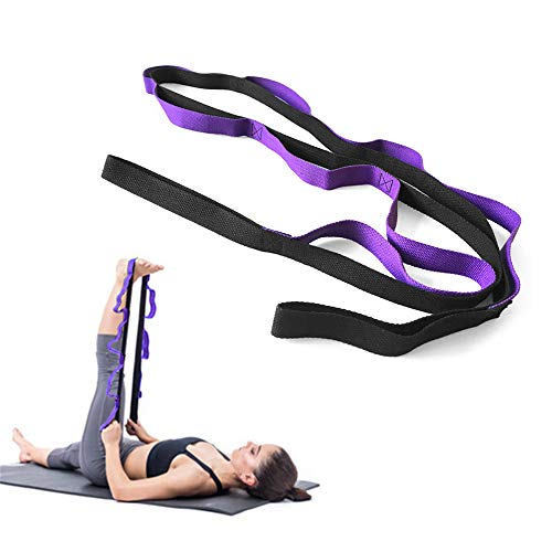 Yoga Daisy Chains Multi-Loop Yoga Strap Nonelastic Stretching Band for Pilates Dance Therapy Gymnastics from Irforay
