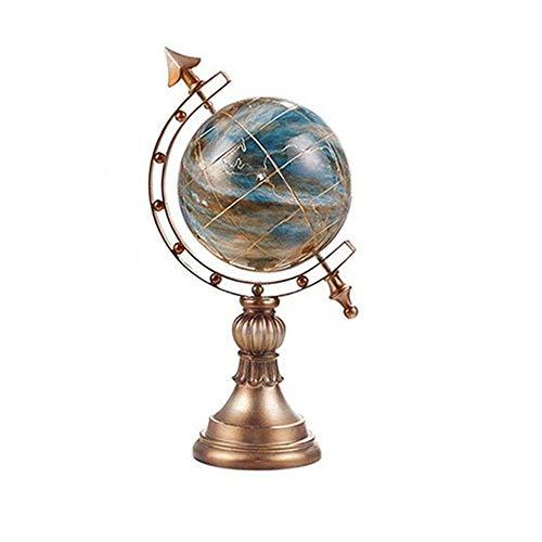 WOHAO Globus Globus Globus der Weltkugel Educational Globus Antik Dekorative Tischglobus pädagogisches Geschenk for Kinder Erwachsene for Kinder, Lehrer ect (Farbe: Blau, Größe:...