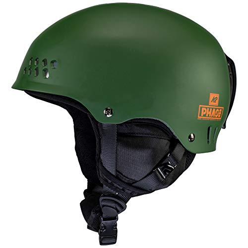 K2 Ski Unisex– Erwachsene Phase Pro Skihelm, Forest Green, S (51-55cm)