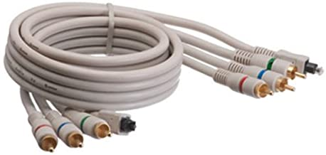 AYA 12Ft (12 Feet) Component Video Toslink Coaxial Cable YPbPr Triple RCA Male Male
