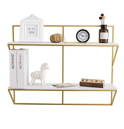 PYROJEWEL Wall-mounted Floating Wall Frame Wrought Iron Floating Rack Storage Organizer Unit Display Stand Art Decoration Living Room Balcony Photo