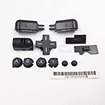 Left Right ABXY LR Full Button Set Replacement for DS Lite NDSL Buttons Kit Black Color