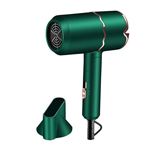 FRTG Secador de Pelo, secador de Pelo iónico Profesional de para Secado rápido, secador de Pelo Ligero de Iones Negativos con botón de Calor/frío,Verde