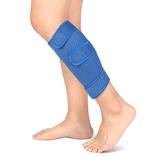 Wadenbandage Verstellbare Wadenstütze Neopren Kompressionsbandage für Wadenmuskelschmerzen, Zerrissene Waden, Schwellungen, Verstauchungen und Krämpfen, Schienbeinstütze für Männer und Frauen