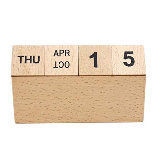 Stobo Vintage houten kalender, tafelkalender, handboek, kalender, kantoor, tafel, decoratie, decoratie