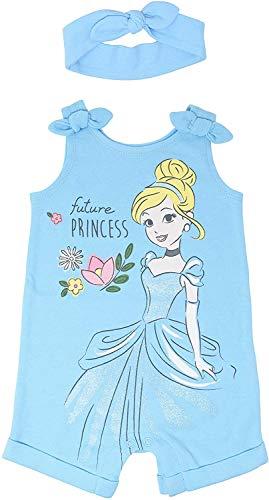 Disney Princess Cinderella Toddler Girls Romper & Headband Set White 2T