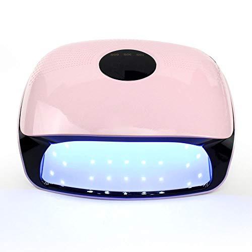 HAJZF LED UV séchoir à Ongles, Gel 48W Lampe Durcissement Portable à Double lumière Source 36, Perles Lampe 3 timings, Détecteur Automatique 120S Mode Indolore