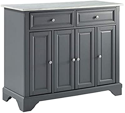 Crosley Furniture Avery Kitchen Island with Paper Marble Top, Gray from Crosley Furniture