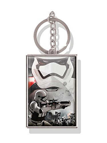 Pritties Accessories Portachiavi in Metallo lenticolare 3D Originale Star Wars Force Awakens 'Storm Trooper'