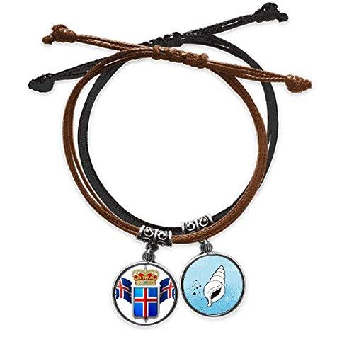 Diythinker en Islandia, símbolo nacional, pulsera de cuero, diseño de cono