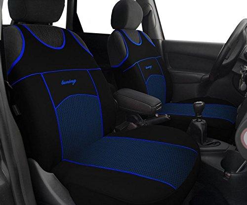POK-TER-BUS Autositzbezüge T-Shirt (Fahrersitz + Beifahrersitz). Super Qualität T-Shirt - Design VIP. Passend für Astra J in Diesem Angebot Blau