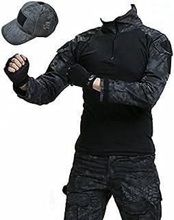 ノーブランド品 タイフォーン迷彩 ジャケット + コンバットパンツ + タクティカルキャップ 3点セット戦闘服 M,L (L)