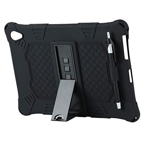 DIDILI para M18 Funda para Tableta de 10,8 Pulgadas Soporte para Tableta Soporte Ajustable con BolíGrafo Capacitivo Funda de Silicona (Negro)