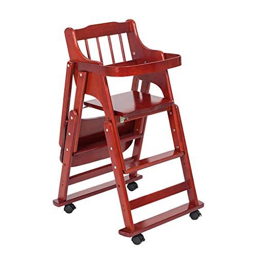 en Bois Chaise de bébé Multifonction Portable Télescopique Table à Manger Enfant Chaise réglable en Hauteur Chaise Haute avec Ceinture à Cinq Points