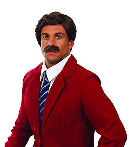 Fun Shack Perruque et Une Moustache Marron De Journaliste Accessoires De Présentateur De Journal Télé pour Homme