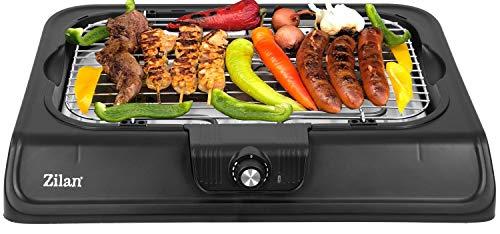 Elektro Grill | 2.000 Watt | Thermostat | Stufenloser Temperaturregler | Tischgrill | Standgrill | Partygrill | elektrischer BBQ Grill | Tisch Grill elektrisch | Cool Touch Griffe… (Tischgrill)