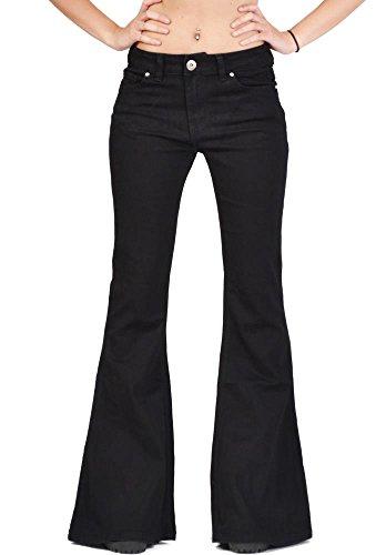 Glamour Outfitters 60er 70er Weite Schlaghose - Schwarz 36