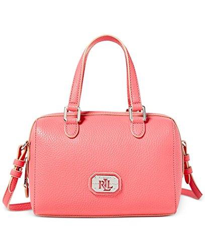 Lauren Ralph Lauren Paley Mini Barrel Satchel Small Bag 6'W x 8'H x 4'D Coral