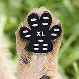Cizen Protezioni Zampa Pads, 20pz Animale Domestico Antiscivolo Protezioni Impedire Animale Domestico di Scivolare, Autoadesivo Scarpe per Cani Sostituzione - XL