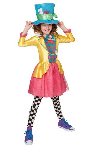 Rubies Costume Officiel de Chapelier Fou pour Fille Alice au Pays des Merveilles de Disney Taille 13 à 14 Ans
