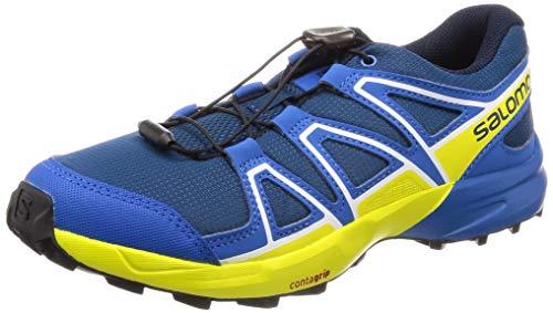Salomon Kinder Trail Running Schuhe, SPEEDCROSS J, Farbe: blau/gelb (Poseidon/Sky Diver/Sulphur Spring), Größe: EU 37