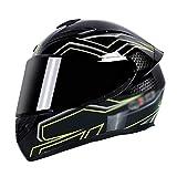 Casco De Moto Integral Cascos Modulares Con Visera Parasol Casco Integral Transpirable Para ESE/DOT Homologado Casco Moto Moto Scooter I,XL=60~61CM