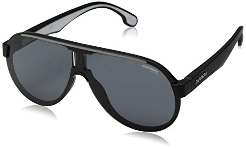 Carrera CA1008/S Pilot Sunglasses, Matte Black/Grey Blue, 99 mm