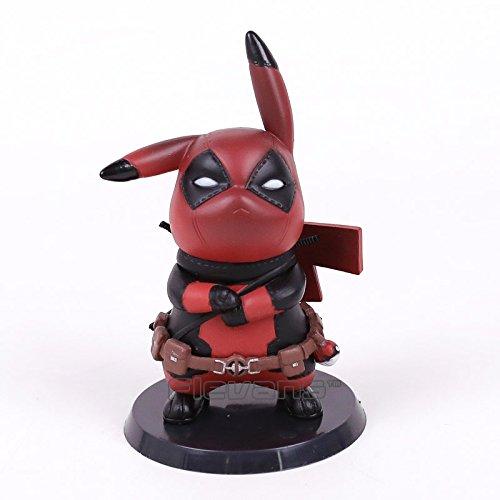 Flevans Figura Picachu Deadpool Figura de PVC Juguete...