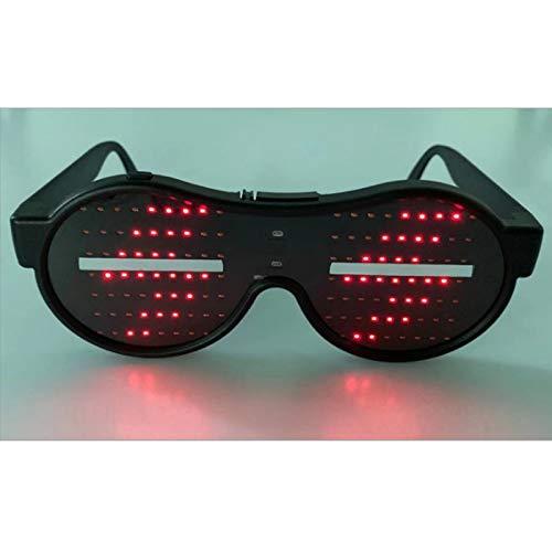 LED-dynamische Leucht Brille Anime Grafik Party Club KTV Shutterbrille Blinzeln glühender Karneval Tanz Halloween-Spielzeug,Rot
