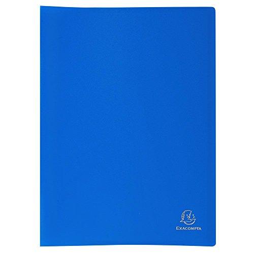 Exacompta - Réf. 8547E - 1 Protège-documents en polypropylène souple OPAK 80 vues / 40 pochettes - A4 - Bleu clair