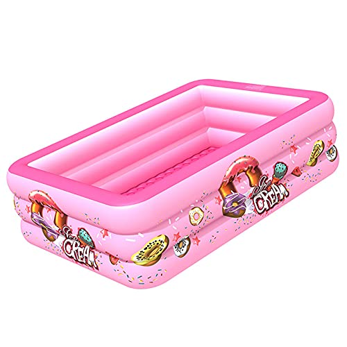 LVLIANG Inflatable Swimming Pool for Kids and Adults Family 82.7 in X53 in X 21.7 in Full-Sized Pool The Best Choice for Outdoor Backyard Water Party Pink-21013555cm