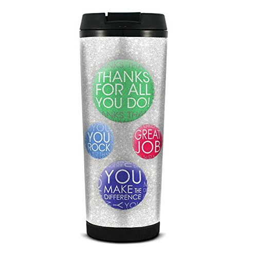 """Successories """"Thanks for All You Do"""" Glitter Travel Tumbler, MultiCOLOR_NAMEed"""