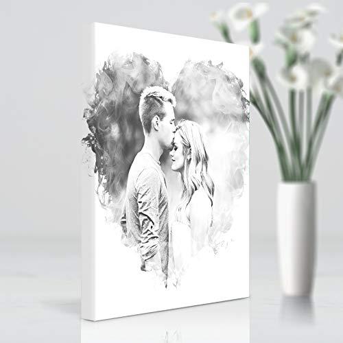 """Foto auf Leinwand Bilder Personalisierte Fotos Wandkunst Familie Haustier Geburtstag Hochzeits Geschenk,16""""×16""""(41cm×41cm)"""