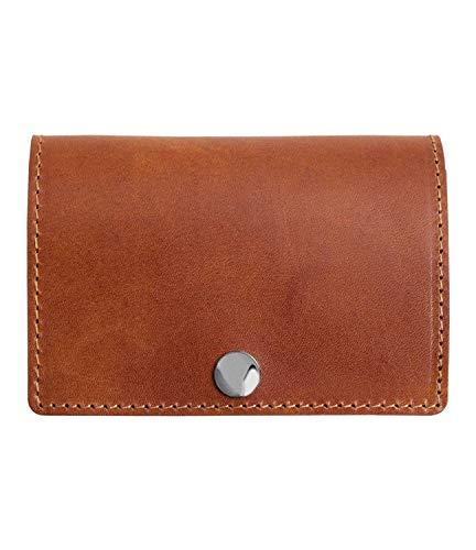 [Dom Teporna Italy] 小さい財布 本革 イタリアンレザー コンパクトな三つ折り ミニ財布 小銭入れあり メンズ レディース ダークブラウン