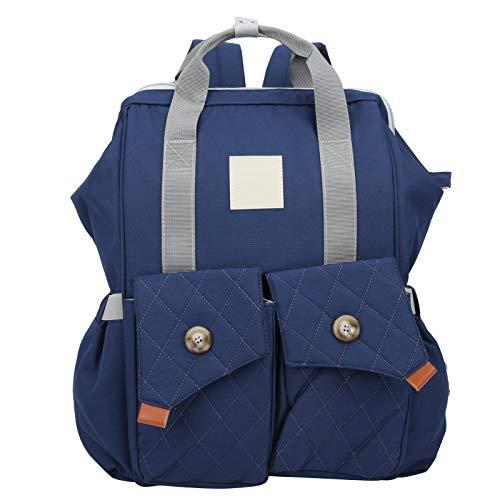 Bolsa de pañales de maternidad, bolsa organizadora suave segura no tóxica para mamá, inodoro para almacenamiento de viajes momia al aire libre(Starry blue)