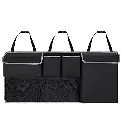 Hansiro Organizador para maletero de coche con velcro, 100 x 45 cm, color negro