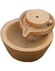 Hztyyier Kadzidło palnik ceramiczny dym przepływ wsteczny pojemnik na kadzidło wodospad stożki stojak do aromaterapii ozdoba dekoracja domu (#1)