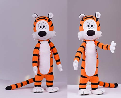 Tiger plush, Handmade stuffed toy, 16.9 in high