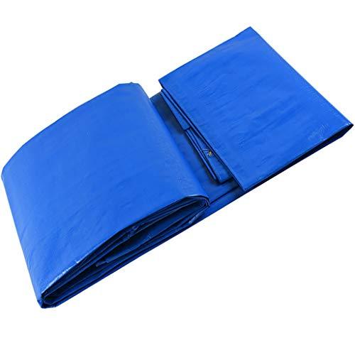 LI MING SHOP-Tents tentes extérieur Bâche Double Face, bâche Bâche de Camion Jardin Fleur Chiffon Abat-Jour, Bleu et Blanc + + 4x6M