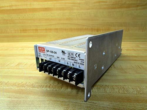 Mean Well SP-150-24 fuente de alimentación, salida única, 24 voltios, 6.3 amperios, 150 vatios, 7.0